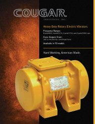 Cougar Vibration Heavy Duty Rotary Electric Vibrator Brochure