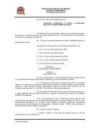 lei nº 3.701, de 25 setembro de 2012. - Prefeitura Municipal de ...