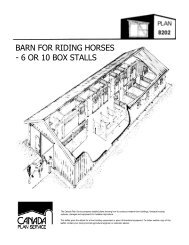 barn for riding horses - 6 or 10 box stalls - Canada Plan Service ...