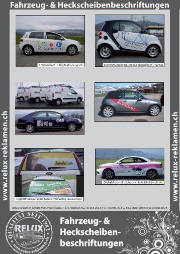 Fahrzeug- & Heckscheiben- beschriftungen