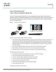 Cisco Physical Security Cisco Video Surveillance ... - VIS Security