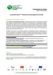 Communiqué de presse lancement appel à candidatures 2011