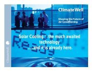 Solar Cooling ® - the much awaited technology …..and it is ...
