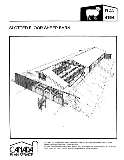 Slotted Floor Sheep Barn Leaflet