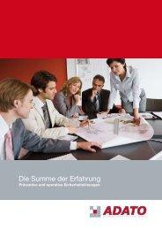 Die Summe der Erfahrung - ADATO Consulting Group GmbH