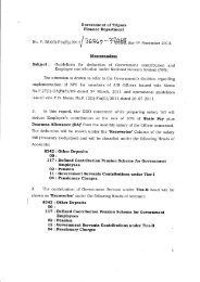 Guidelines for deduction of Government contribution and ... - Finance