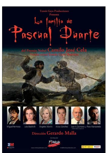 La familia de Pascual Duarte. - Publiescena