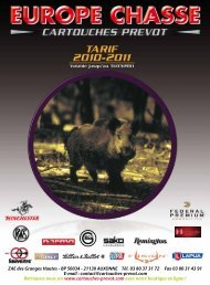 balles classiques - Europe Chasse