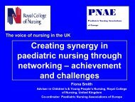 Creating synergy in paediatric nursing through networking