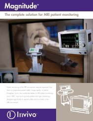 MagnitudeTM The complete solution for MRI patient monitoring