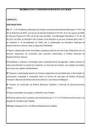REGIMENTO DA 4ª CONFERÊNCIA MUNICIPAL DA CIDADE ...