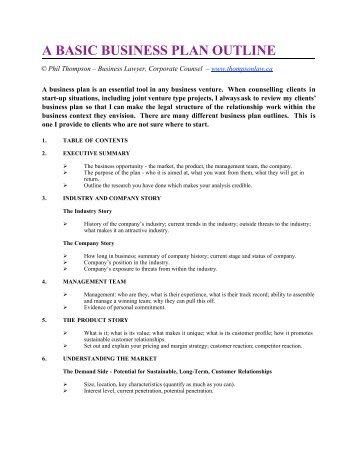 Film Business Plan Outline