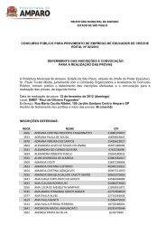prefeitura municipal de amparo estado de são paulo concurso ...
