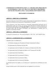 Règlement de la Commission d'indemnisation à l'amiable - Le Tram