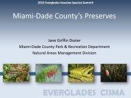 Miami-Dade County's Preserves - Everglades Cooperative Invasive ...