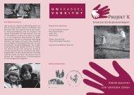 Flyer (PDF) 2MB - Projekt K - Universität Kassel