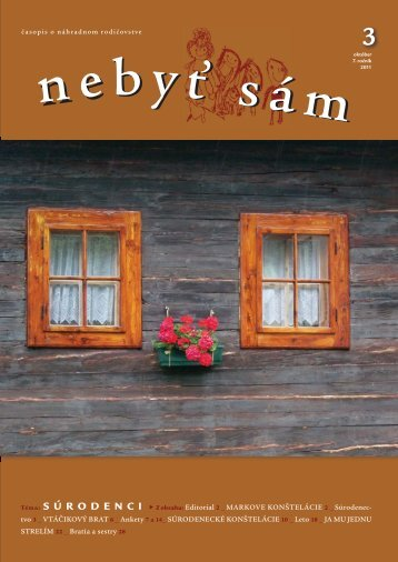 NEBYT SAM 3_2011_na web.indd - Asociácia náhradných rodín