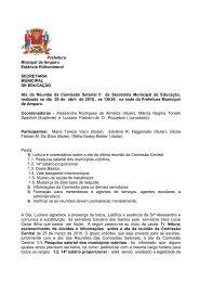 Ata da 6 º reunião da Comissão Setorial nº 2 da Secretaria de ...