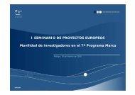 Movilidad de investigadores dentro del VII PM - Euroblog