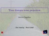 Time domain noise projection