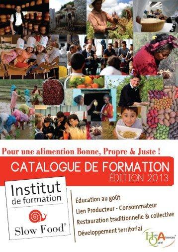 Catalogue de formation 2013 - Slow Food France