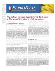The Role of Nuclear Receptor-FGF Pathways in ... - PeproTech, Inc.