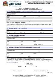 atualização cadastral - Prefeitura Municipal de Amparo