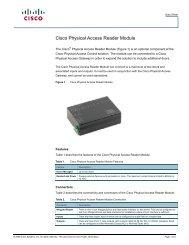 Cisco Physical Access Reader Module