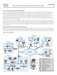 Cisco Physical Security Solution Overview - BL Trading