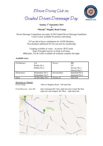 Graded Driven Dressage Day - NSW Branch of the Australian ...