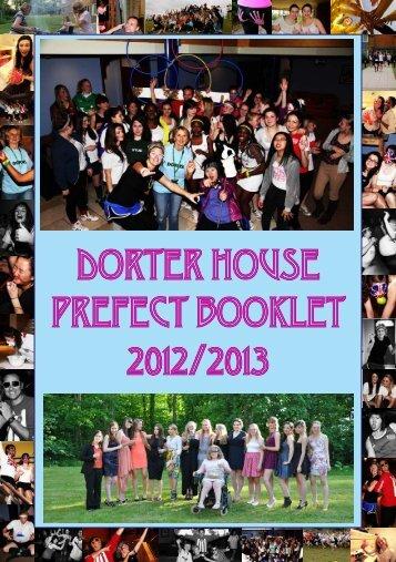 DORTER HOUSE PREFECT BOOKLET 2012/2013