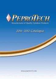 2011-2012 Catalogue - PeproTech, Inc.