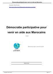 Démocratie participative pour venir en aide aux Marocains - Avion