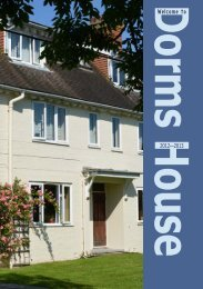 Welcome to Dorms House - St Bede's School