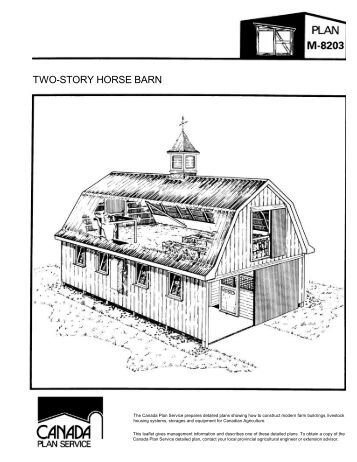 Pole frame cattle shed leaflet imperial canada plan for 2 story pole barn plans