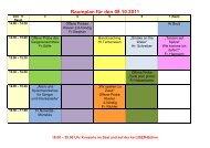 Raumplan für den 08.10.2011 - Musikschule Kamp-Lintfort eV
