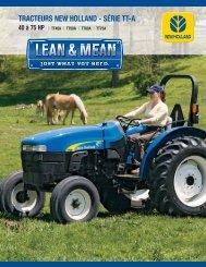 tracteurs new holland de la série tt-a