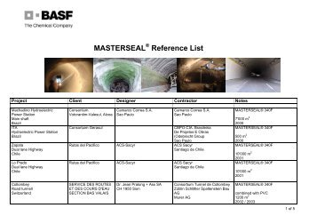 MASTERSEAL Reference List - TunnelTalk.com