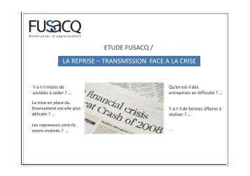 Le Marché de la Reprise-Transmission face a la crise - Fusacq