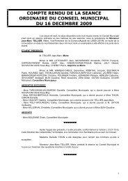 20091216 CR de la séance du 16 décembre 2009 - Avion