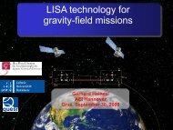 LISA technology for gravity-field missions - IGCP 565 Project