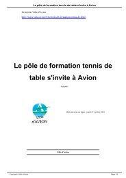Le pôle de formation tennis de table s'invite à Avion