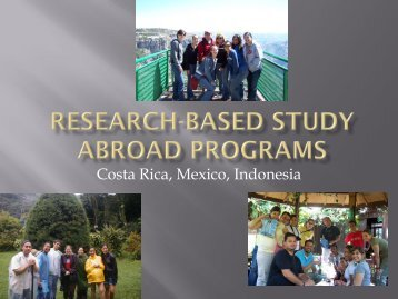 Research-Based Study Abroad Programs - CETaL