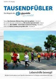 2015 JULI / LEBENSHILFE FREISING / TAUSENDFÜSSLER-Magazin
