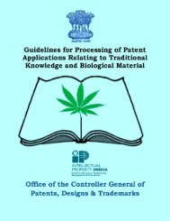 Guidelines for Processing of Patent Applications relating to
