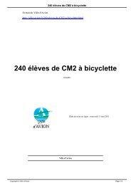 240 élèves de CM2 à bicyclette - Avion