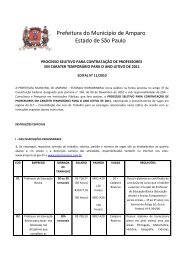 Edital de Processo Seletivo 2011 - Nº 11/2010 - Prefeitura Municipal ...