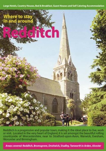 Where to Stay for Web - Redditch Borough Council
