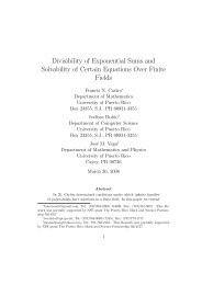 Divisibility of Exponential Sums and Solvability of Certain Equations ...