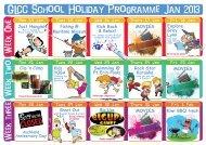 GLCC School Holiday Programme Jan 2013 GLCC School Holiday ...